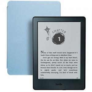 Limited-Time Kindle for Kids Bundle with the latest Kindle E-reader, 2-Year Worry-Free Guarantee, Blue Cover