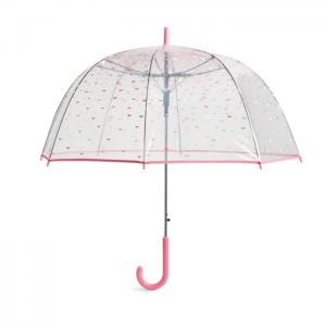 Vera Bradley Auto Open Bubble Umbrella - Pink Half Moons