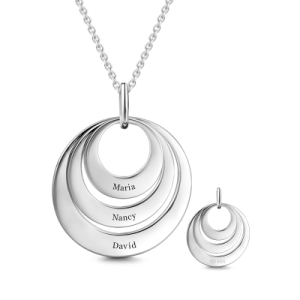 Take 40% Off This Engravable Mother's Silver Three Disc Necklace Plus Free Shipping