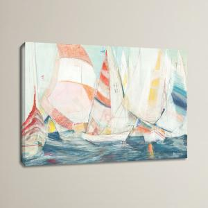 Right Now, You Can Get The 'Rounding the Mark' by Marlene Lawrence Painting Print on Wrapped Canvas by Breakwater Bay For Just $29.99!