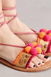 Z&L Europe Pom Pom Sandals