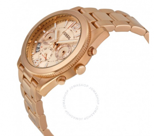 Fossil Perfect Boyfriend Multifunction Rose-Tone Stainless Steel Watch