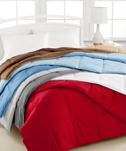 Home Design Down Alternative Color Comforters, Hypoallergenic