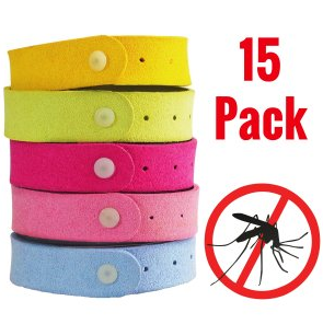 Mosquito Repellent Bracelets by Simple Natural Products (15 Pack) Insect Repellent