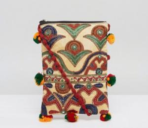 Reclaimed Vintage Inspired Pom Cross Body Bag