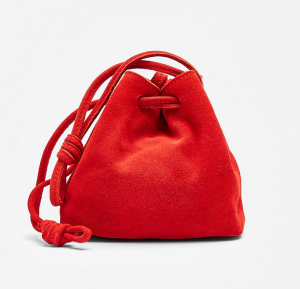 Bershka Real Suede Bag
