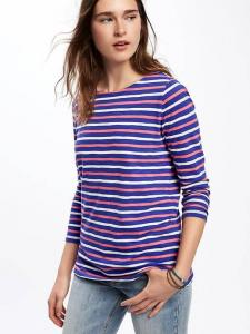 Relaxed Boat-Neck Tee for Women