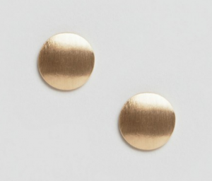 Pieces Miebe Metallic Stud Earrings