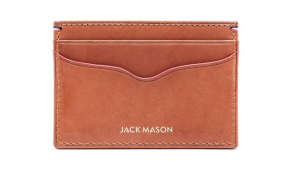 JACK MASON Vacchetta Lux Leather Card Case
