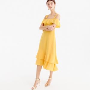 Cold-shoulder Silk Dress from J. Crew
