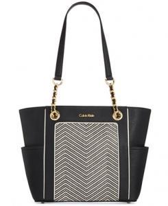 Hayden Saffiano Leather Tote by Calvin Klein