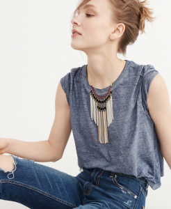 A&F Statement Fringe Necklace