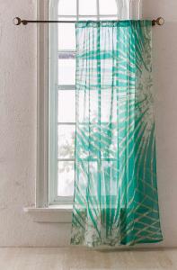 Batik Palm Print Window Curtain