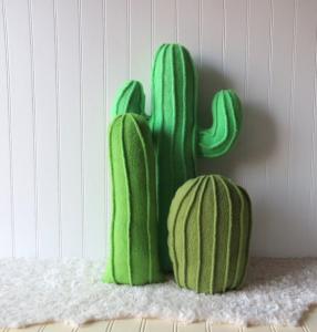 Set of 3 Cactus Pillows Home Decor