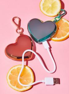 MixBin Heart Charger Keychain
