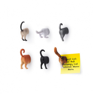 Kikkerland Cat Butt Magnet Set