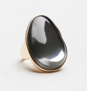 Mirror Orbit Stone Ring