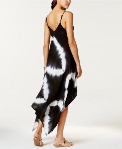 Tie-Dye Handkerchief Maxi Dress Cover-Up