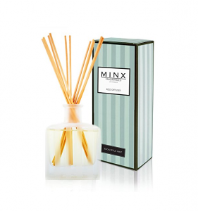 Stress Relief EUCALYPTUS MINT Scented Reed oil Diffuser Set by MINX Fragrances