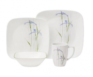 2 for $48.99 Corelle Shadow Iris 16-pc. Dinnerware Set @JCPenney