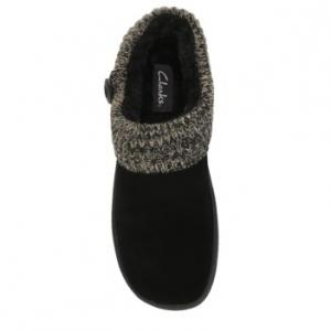 Clarks Women's Knit Collar Clog Slippers