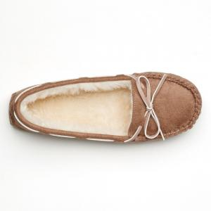 SO Women's Microsuede Moccasin Slippers