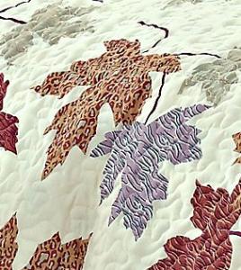 Autumn Leaf Quilt Set and Valance