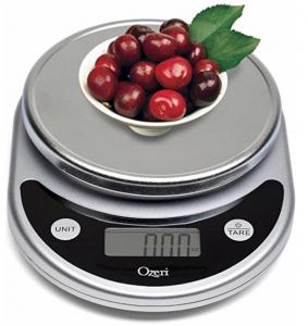 $7.47 (Was $34.95) Ozeri Pronto Digital Multifunction Kitchen and Food Scale, Elegant Black