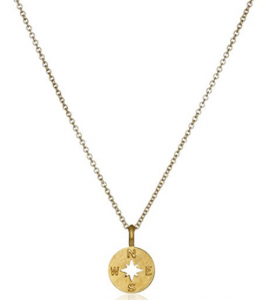 $43.50 (Was $58) Dogeared Going Places Compass Disc Chain Necklace
