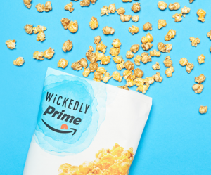 A Free Bag of Wickedly Prime Sweet N Cheese Popcorn Mix with $25 Purchase @Amazon