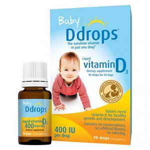 $14.72 Ddrops Baby 400 IU, Vitamin D, 90 drops 2.5mL (0.08 fl.oz)