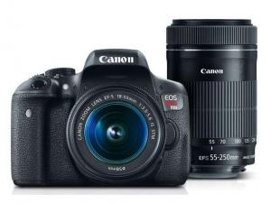 $560.99 (Orig. $959.98, $398 Off) Canon EOS Rebel T6i + 18-55mm & 55-250mm Refurbished