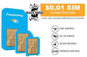 FreedomPop: $0.01 + Free Shipping Unlimited Talk, Text, and 2GB LTE 1-mo. Trail