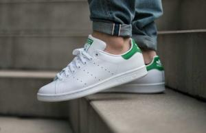 $29.99 Adidas Originals Men's Stan Smith Leather White/Green Sneakers @eBay