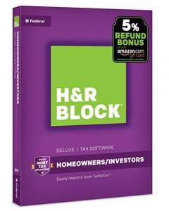 $13.99 (60% OFF, Was $34.99) H&R Block Tax Software Deluxe 2017 + Refund Bonus Offer