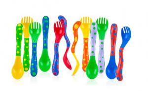 $2.77 Nuby 4-Pack Spoons and Forks (2 Each)