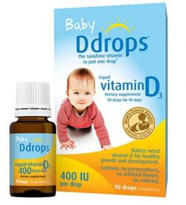 $13.36 Ddrops Baby 400 IU, Vitamin D, 90 drops 2.5mL (0.08 fl.oz)