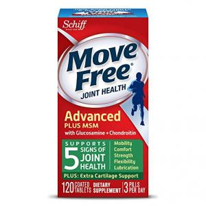 $13.99 Move Free Advanced Plus MSM, 120 tablets - Joint Health Supplement with Glucosamine and Chondroitin