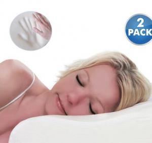 $20.99 (Was $99.99) Memory Foam Contour Support Pillow 2 Pack