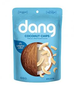 $3 Dang Gluten Free Toasted Coconut Chips, Lightly Salted, Unsweetened, 3.17oz Bag, 1 Count