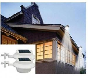 $19.99 Solar-Powered LED Outdoor Lights – Fastens Onto Gutters, 4-Pack