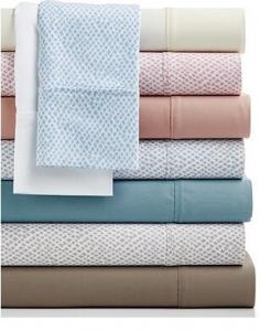 $29.99 (was $140) 500 Thread Count 6-Pc Sorrento Print Sheet Set @Macy's