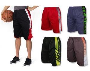 $29.99 (Was $99.99) 5-Pack Mystery Deal: Men's Moisture-Wicking Mesh Shorts (S-2X)