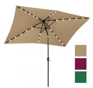 $52.99 (Was $199.95) 10x6.5ft Rectangular Solar LED Patio Umbrella w/ Tilt Adjustment