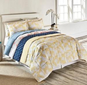 $24.97 (Was $140) Living Quarters Reversible Microfiber Down-Alternative King Comforter