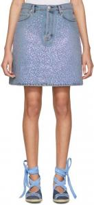 Acne Studios Blue Sharmayne Denim Miniskirt