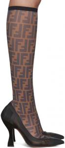Fendi Multicolor Mesh Colibri Sock Boots