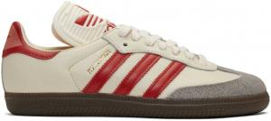 adidas Originals Off-White & Red Samba OG Sneakers
