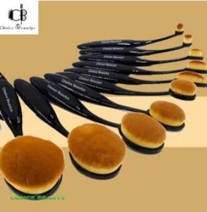 75% off Choice Beautys 10Pcs Oval Cream Puff Cosmetic Shaped Power Makeup Toothbrush Foundation Brushes (Black)