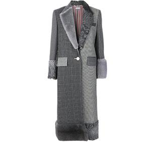 30% off THOM BROWNE long patchwork coat